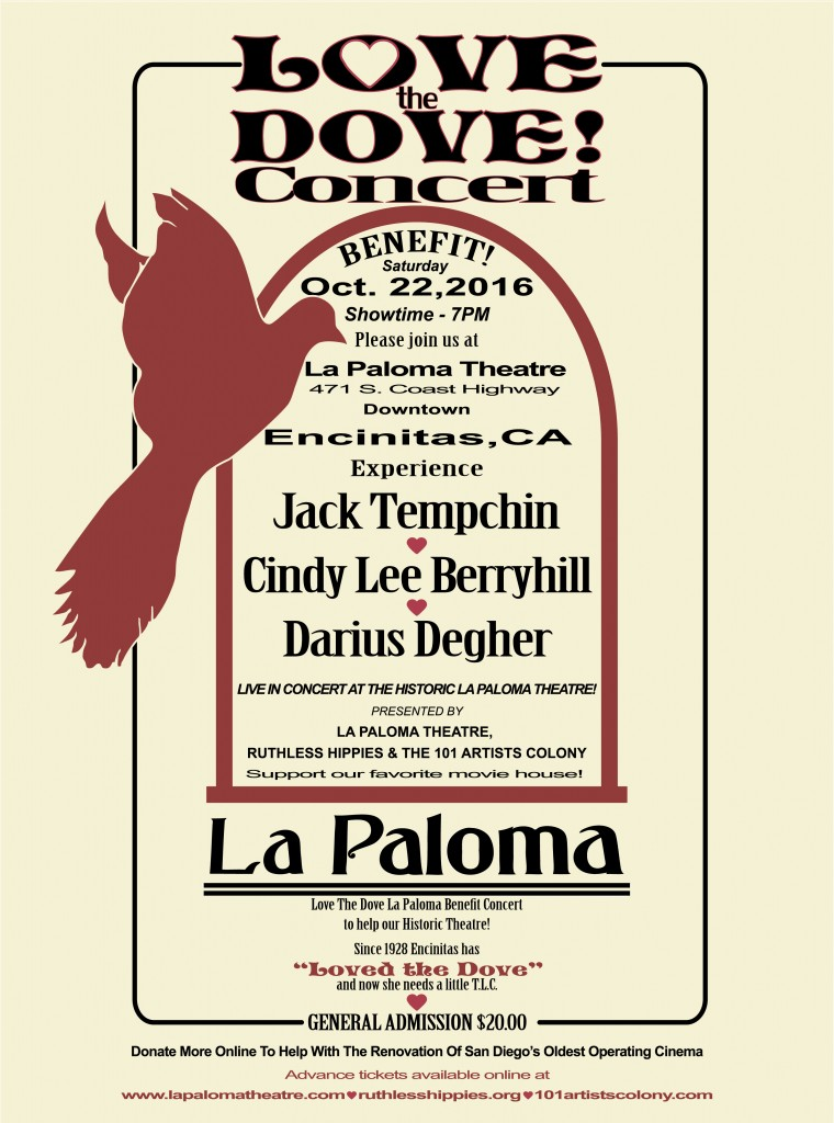 Love the Dove! concert poster